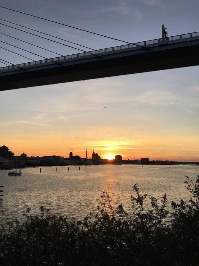 Sky, Sunset, River, Reflection royalty free stock photography