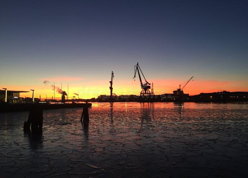 Sky, Sunset, Sea, Waterway royalty free stock photos