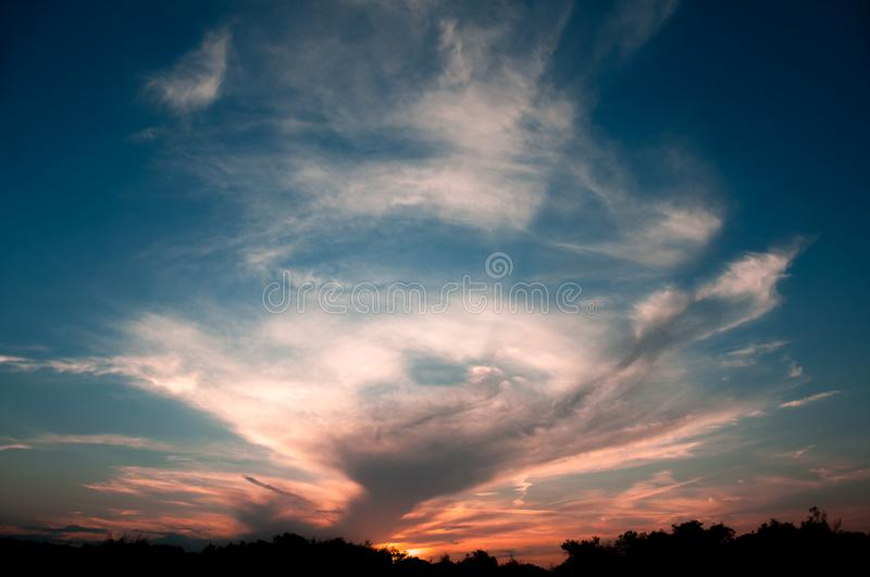 Sky at sunset stock photography