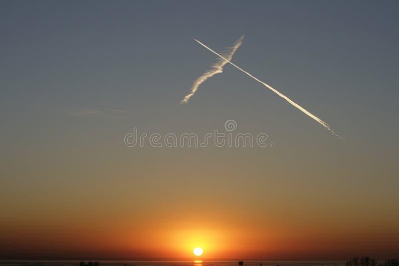 Sky sunset royalty free stock photo
