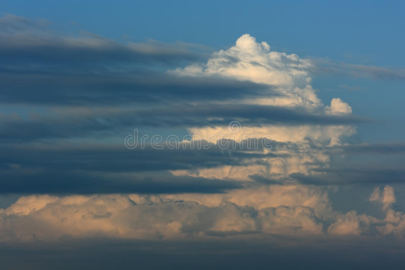 Sky and thunder clouds royalty free stock photography