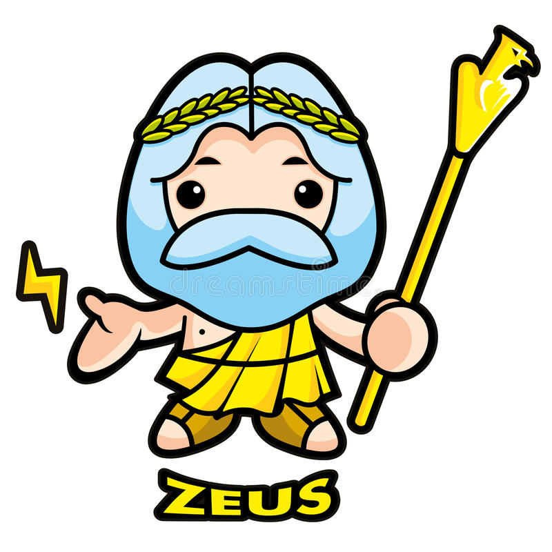 Download Of Sky And Thunder God Zeus Stock Illustration - Image: 26500018