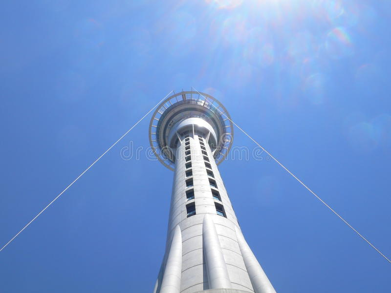 Sky Tower - Aukland royalty free stock photos