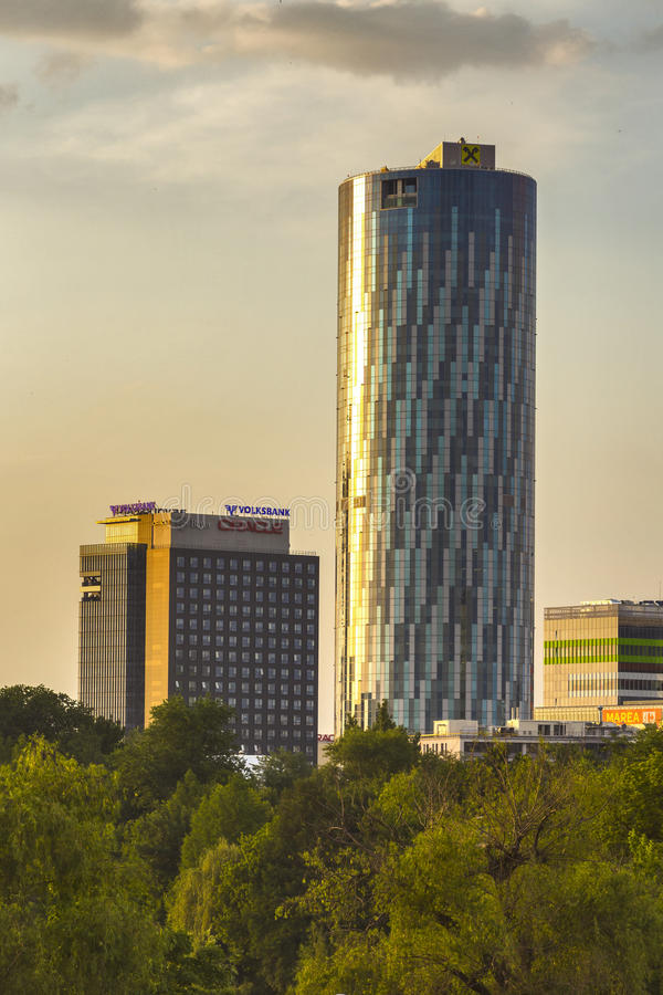 Sky Tower in Bucharest royalty free stock photography