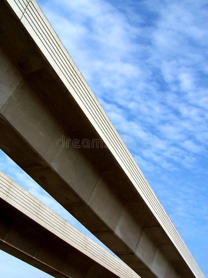 Sky and tracks royalty free stock images