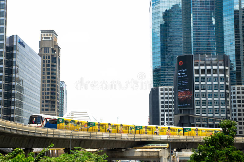 Sky train in the city royalty free stock photography