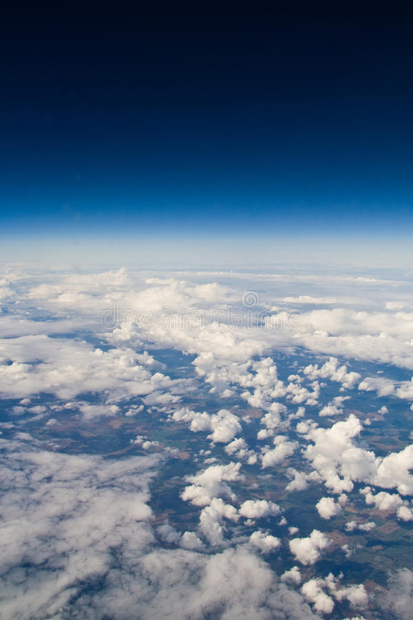 Sky view from the airplane royalty free stock image