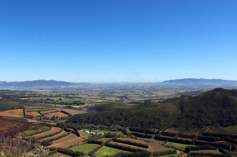 Sky View of Cape Wine Country royalty free stock image