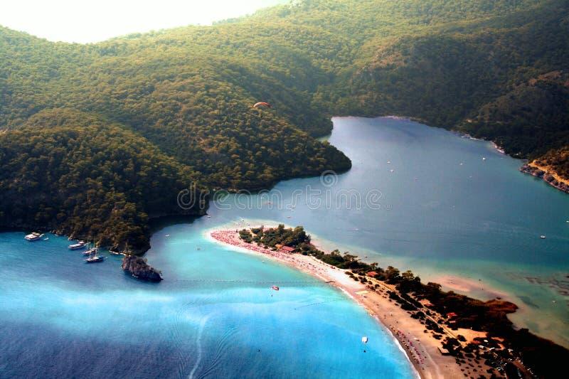 Sky View of Island Paradise stock photos