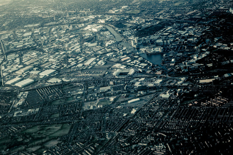Sky view of Manchester royalty free stock photography