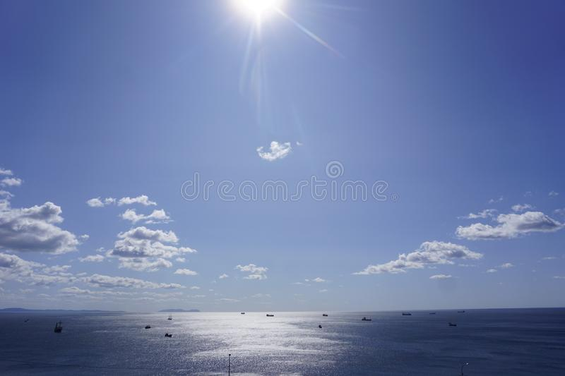 The Sky Of Vladivostok. Summer 2019 royalty free stock images