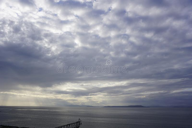 The Sky Of Vladivostok. Summer 2019 stock photos