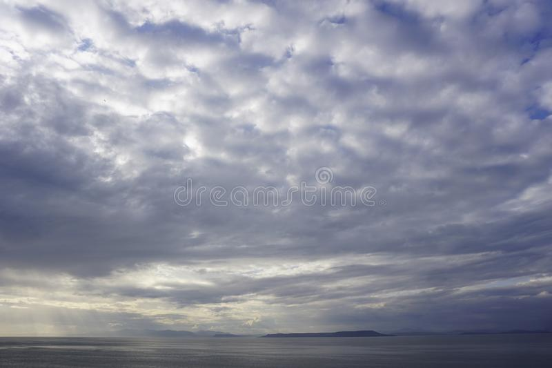 The Sky Of Vladivostok. Summer 2019 royalty free stock image