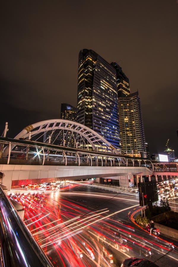 Sky walk BTS Chong Nonsi Bangkok Thailand. royalty free stock photos