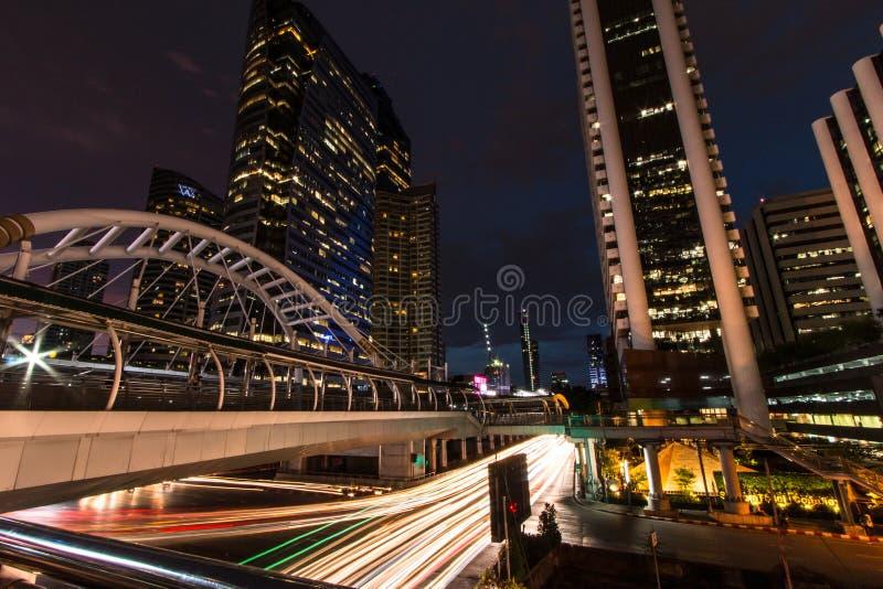 Sky walk BTS Sky walk BTS `Chong Nonsi` Bangkok Thailand. royalty free stock photos