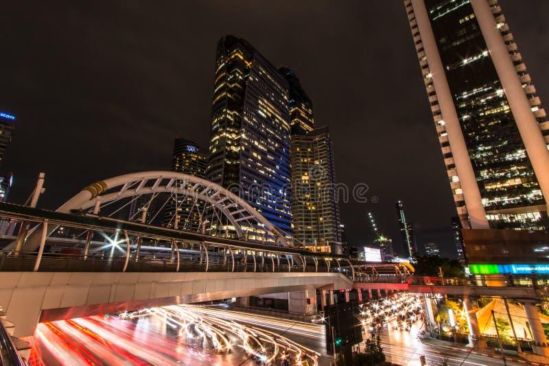 Sky walk BTS Sky walk BTS `Chong Nonsi` Bangkok Thailand. stock image
