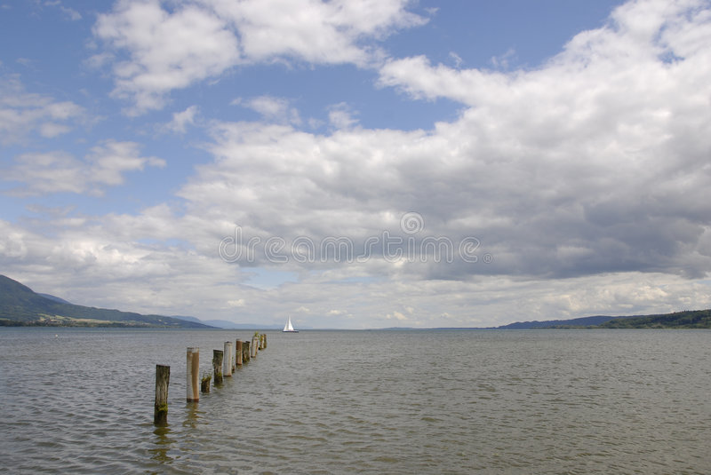 Sky and water stock photography