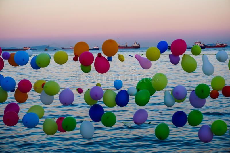 Sky, Water, Balloon, Daytime royalty free stock photography
