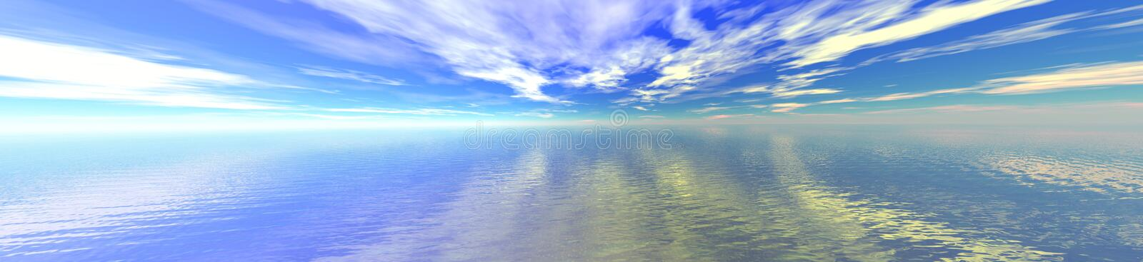 Sky and water horizon royalty free illustration