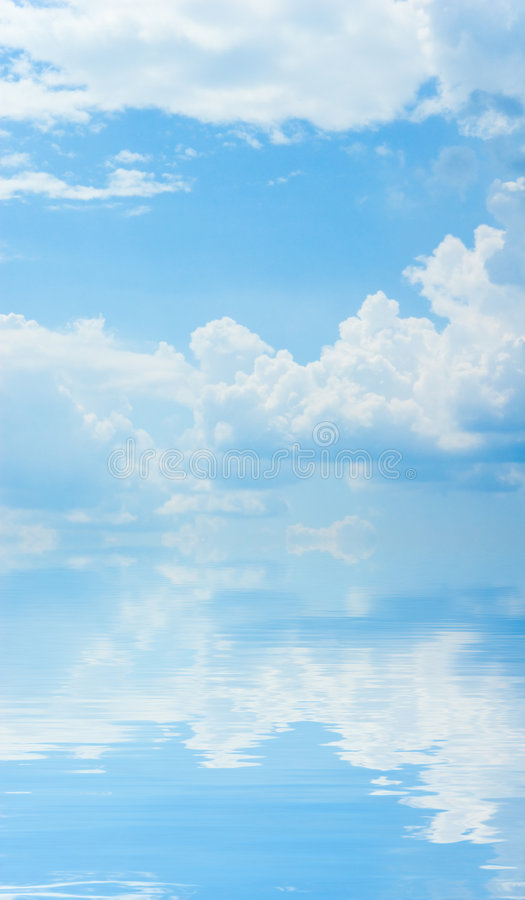 Sky with water reflection royalty free stock photo