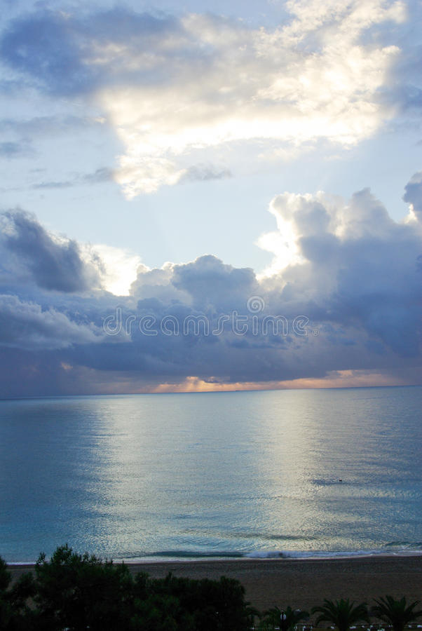 Sky with white and blue clouds royalty free stock photography