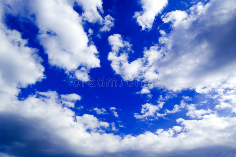 The sky and white clouds. stock photos