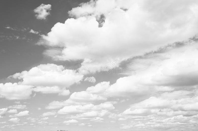 Sky and white clouds in miami, usa. Cloudscape on blue sky background. Weather and nature. Freedom and dream concept stock image