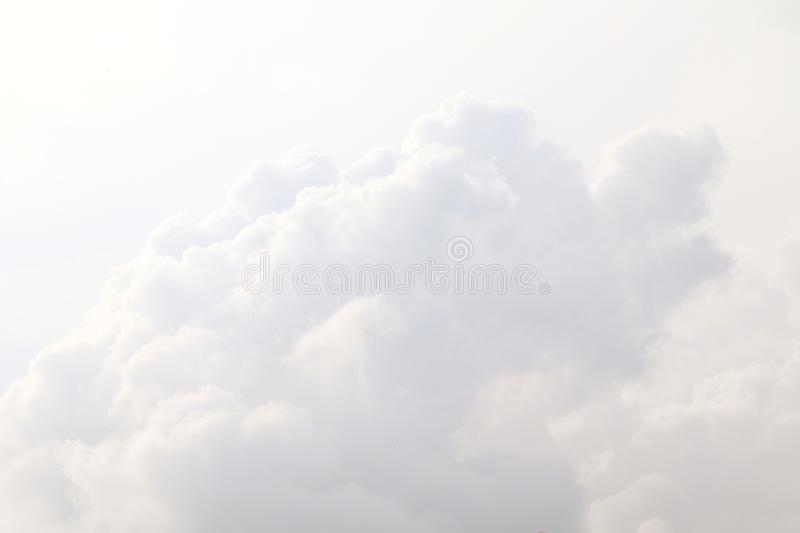 Sky, White Sky clouds clear, Big fluffy clouds white beautiful l royalty free stock photography