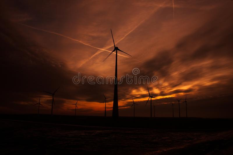 Sky, Wind, Electricity, Energy royalty free stock images