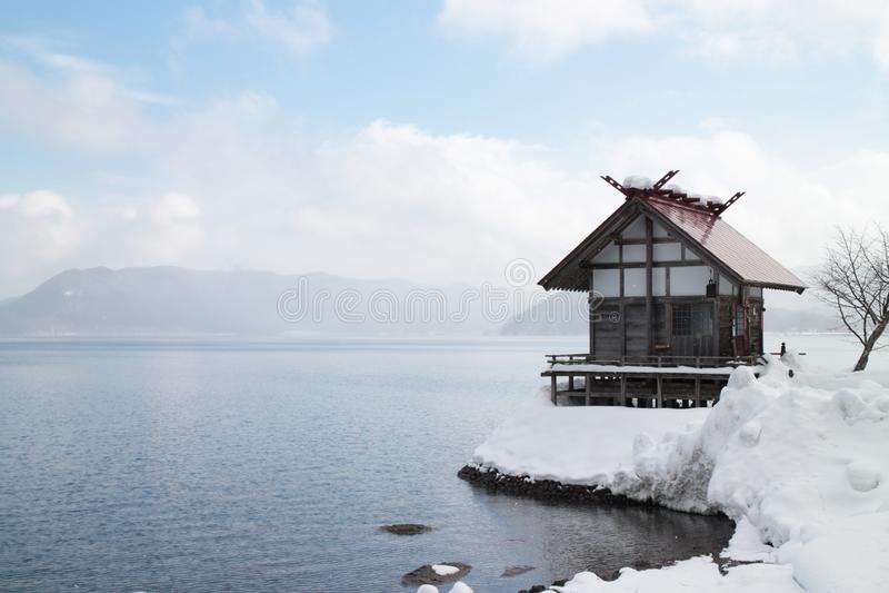 Sky, Winter, Snow, Lake stock photos