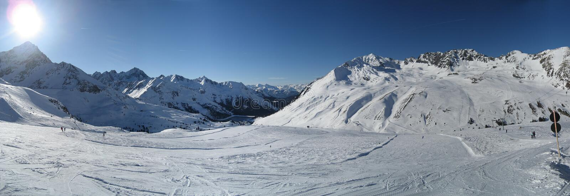 Sky in Winter in Tirol / Tyrol royalty free stock photos