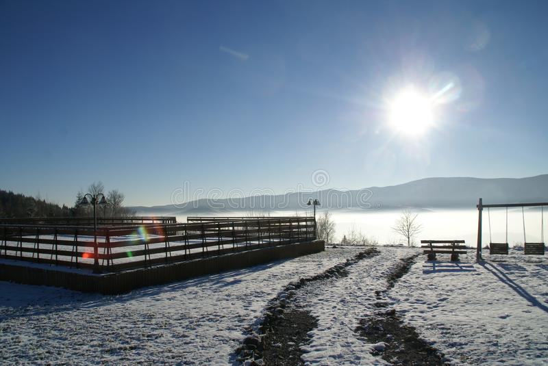 Sky, Winter, Water, Snow stock photography