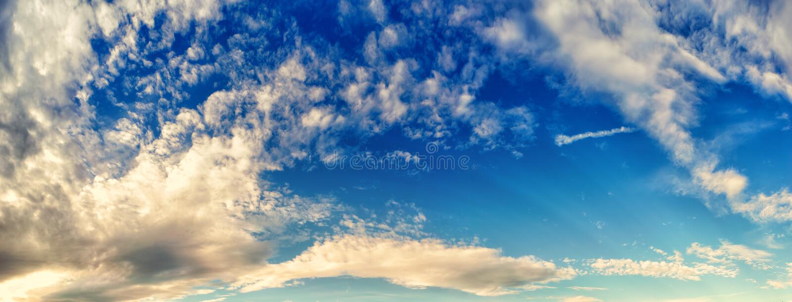 Sky. A wonderful sky, panorama format royalty free stock image