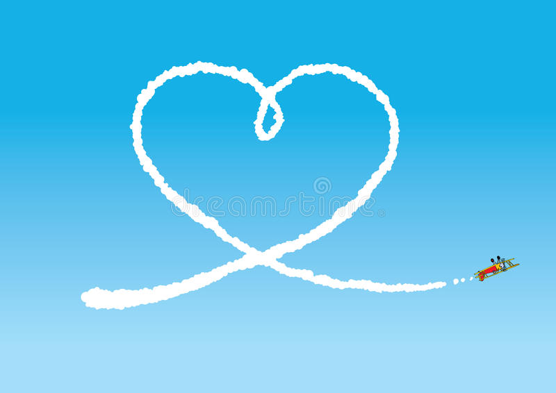 Download Sky Writing stock vector. Image of happy, heart, flaying - 20598819