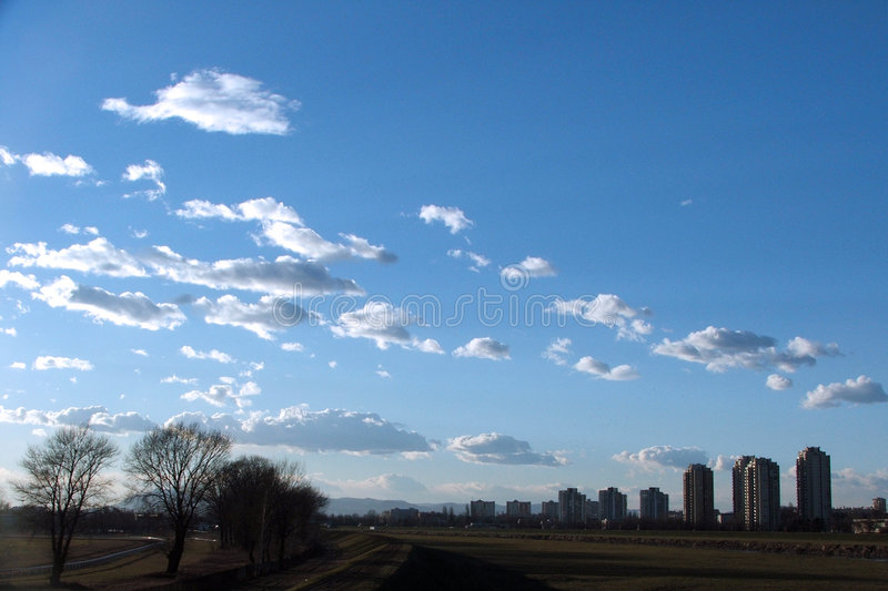 Download Sky in Zagreb stock photo. Image of nature, pnorama, cloud - 157836
