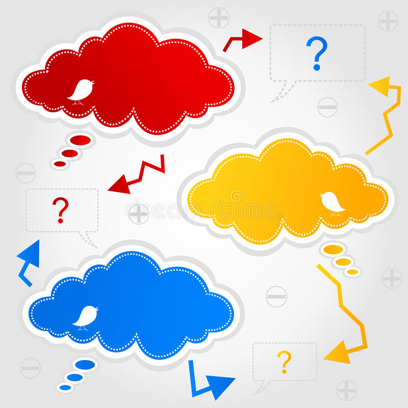Sky3. Cloud with a place for advertising. A illustration vector illustration