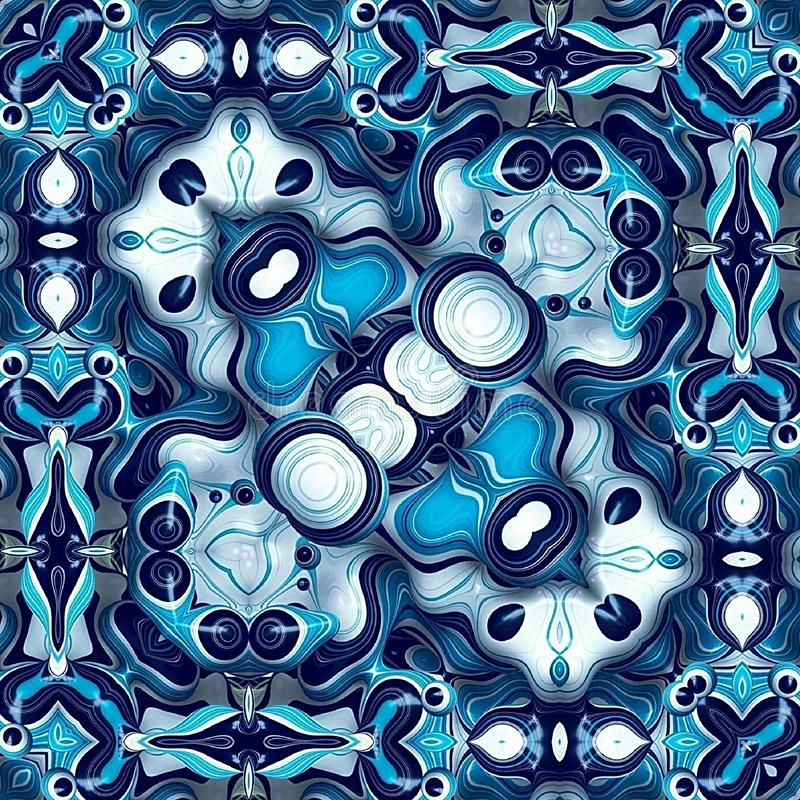 Skyblue and white wallpapers and backgrounds. Sky blue and white wallpaper and backgrounds for home and office stock illustration