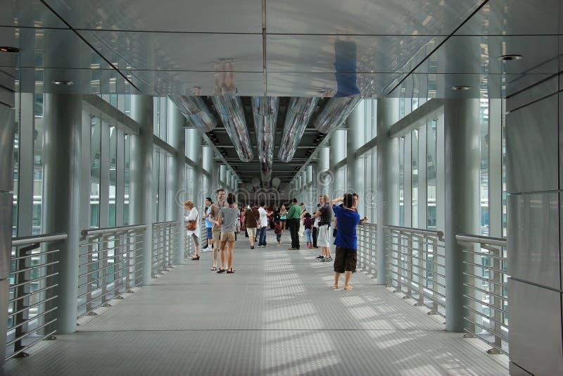 Skybridge van Petronas-Torens stock afbeeldingen
