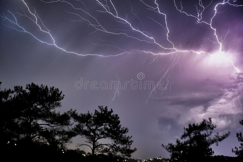 Skyburst stock photography