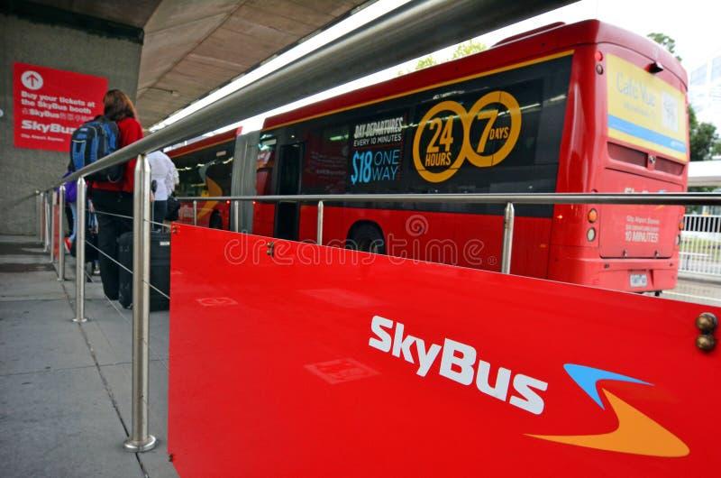Skybus超级梭 免版税库存照片