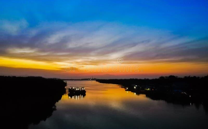 Skycolour bintan island indonesia seabintan royalty free stock image