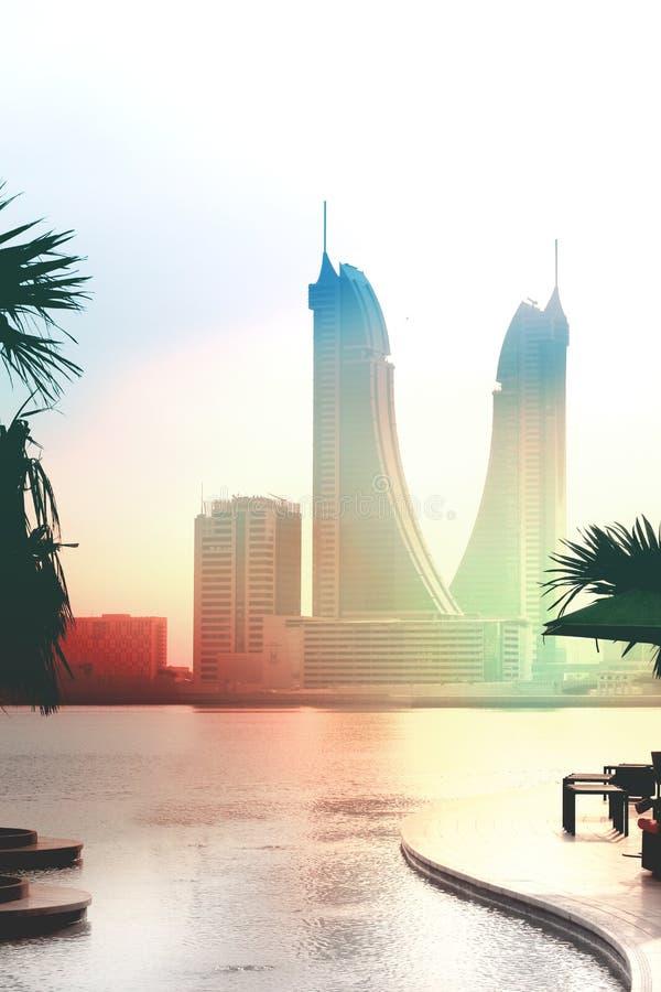 Skycraper in Bahrain stockfotografie