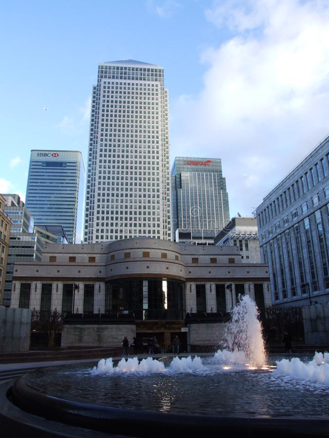 Skycraper in Canary Wharf Londen royalty-vrije stock foto