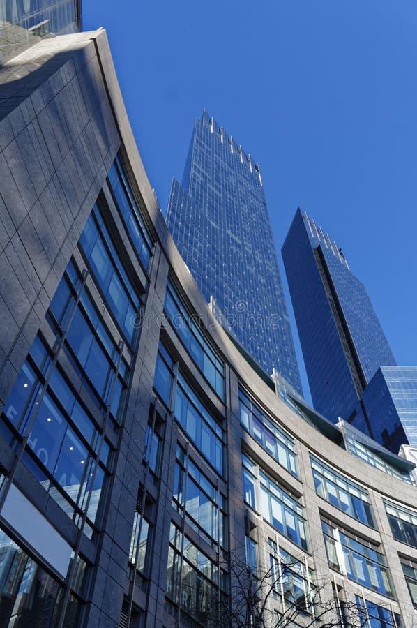 Skycraper in Manhattan Columbus Square royalty free stock photography
