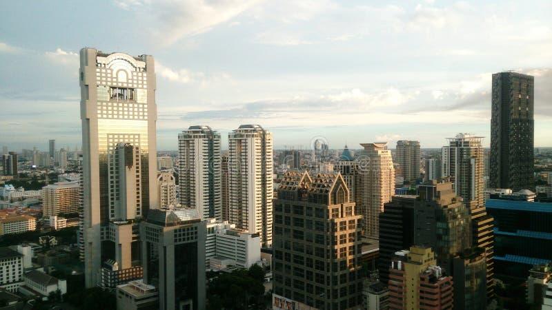 Skycraper stedelijke stad royalty-vrije stock afbeeldingen