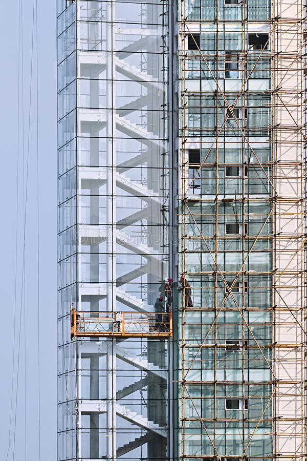 Skycraper under construction, Weihai. WEIHAI-CHINA-DEC. 4, 2006. Skyscrapers under construction on Dec. 4, 2006 in Weihai. McKinsey predicts that China will royalty free stock photography