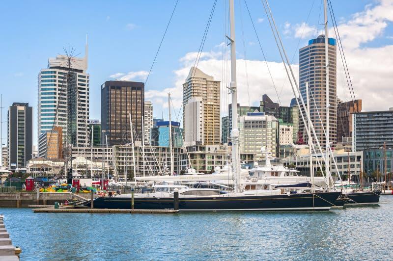 Skycrapers d'Auckland images libres de droits