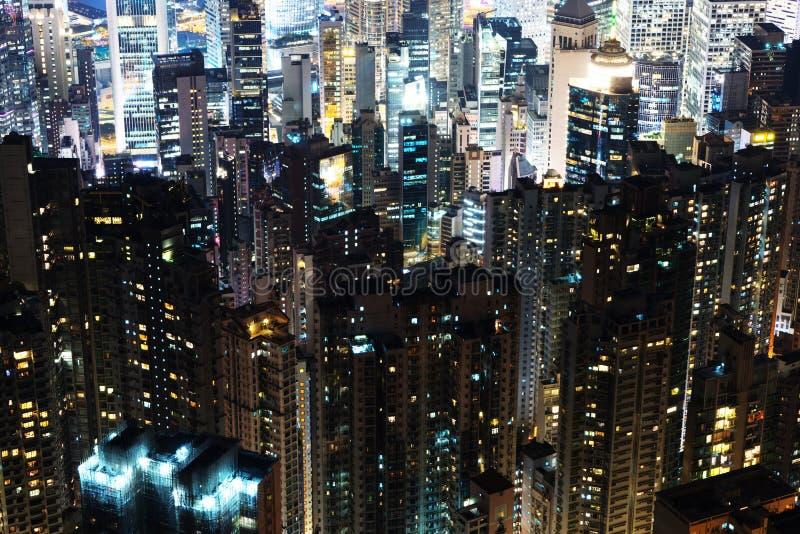 Skycrapers de Hong Kong imagens de stock royalty free