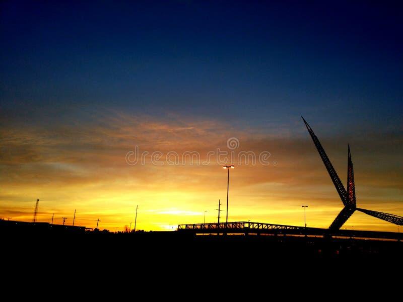 Skydance soluppgång fotografering för bildbyråer