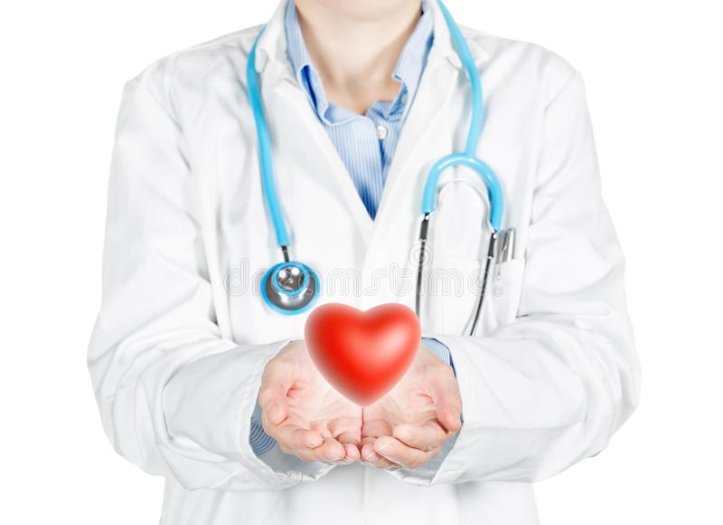 Skydd av hjärtahälsan stock illustrationer